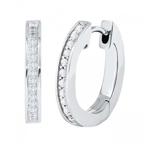 LOVglam Creolen Ø 16 mm in 925er Silber mit Zirkonia*